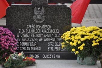 Poświęcenie pomnika upamiętniające ofiary II wojny światowej